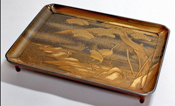 2-269japanese gold lacquer,makie