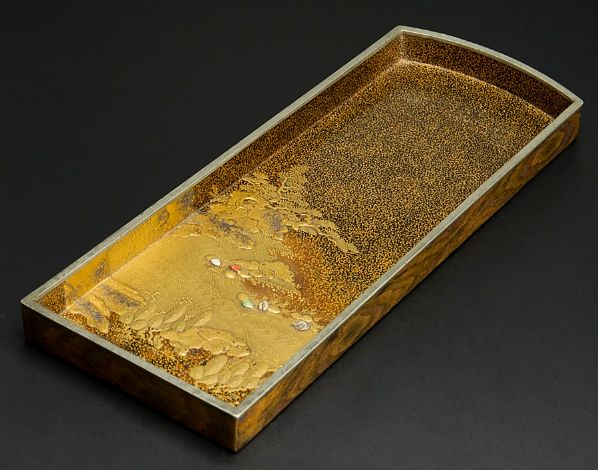 japanese gold lacquer Tray091222381