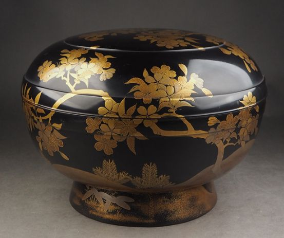 japanese gold lacquer,makie Confectionery bowl09132342