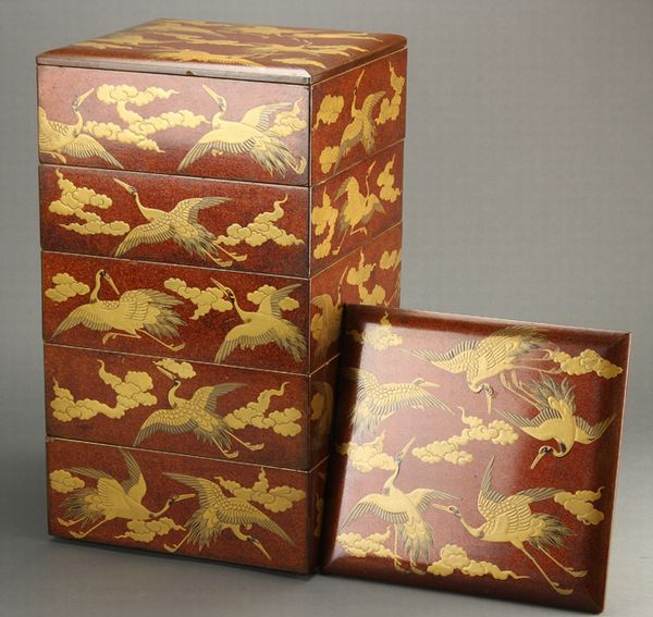 2-141japanese gold lacquer,makie