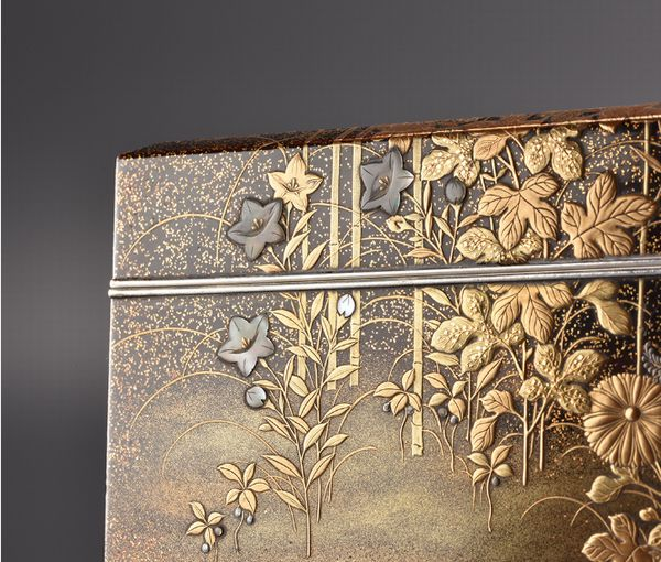 10japanese gold lacquer Writing box 09252252