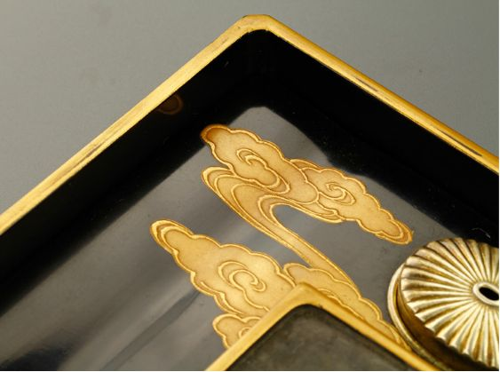 11japanese gold lacquer,makie Writing box09252219