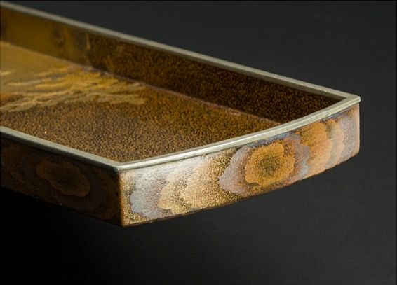 japanese gold lacquer Tray0912223811