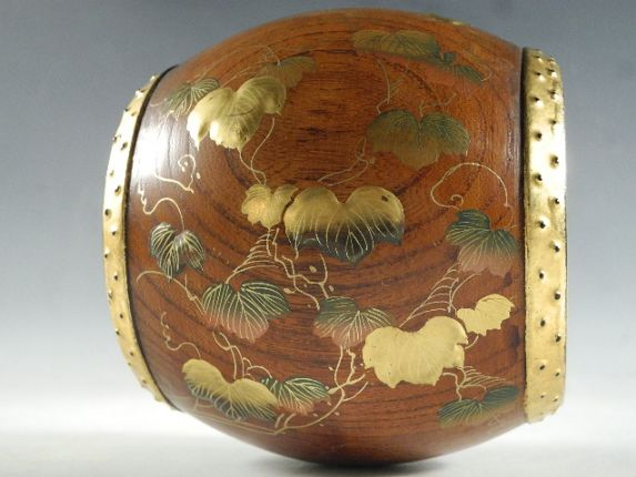 japanese gold lacquer,makieChicken Drum09112111