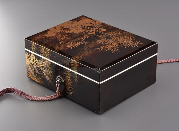12japanese gold lacquer Writing box 09252252