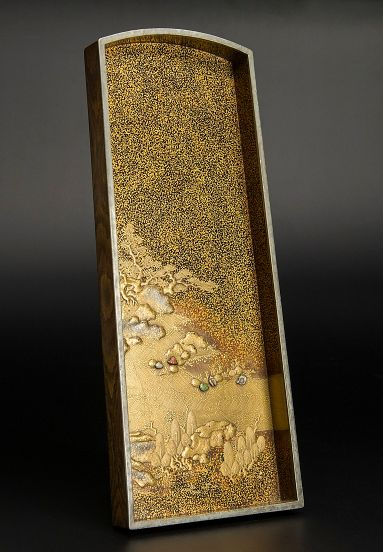 japanese gold lacquer Tray0912223812