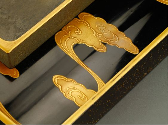 13japanese gold lacquer,makie Writing box09252219