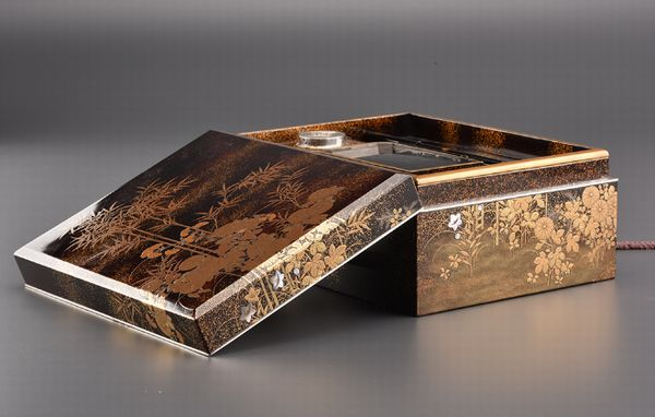 13japanese gold lacquer Writing box 09252252