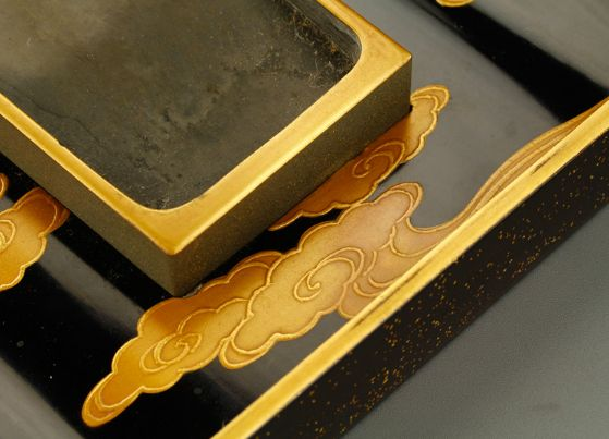 14japanese gold lacquer,makie Writing box09252219