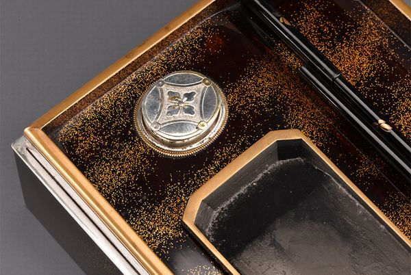 14japanese gold lacquer Writing box 09252252