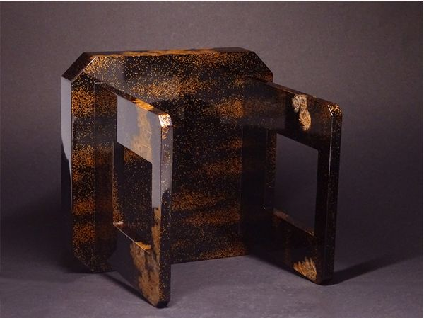 japanese gold lacquer,makie Sake cup stand09122056