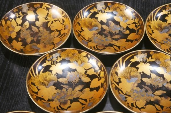 2-88japanese gold lacquer,makie