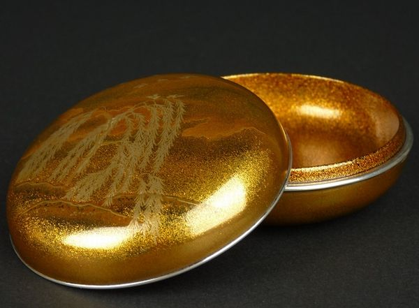 2-143japanese gold lacquer,makie