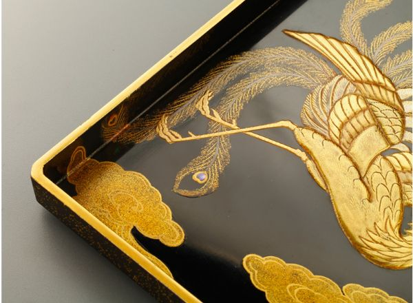 16japanese gold lacquer,makie Writing box09252219