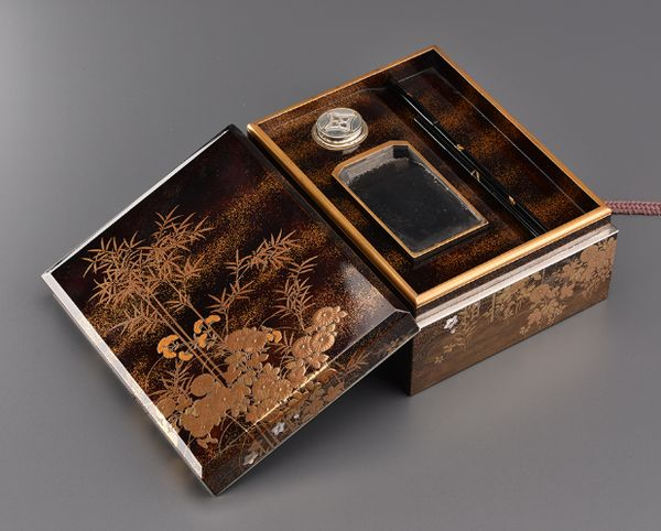 16japanese gold lacquer Writing box 09252252
