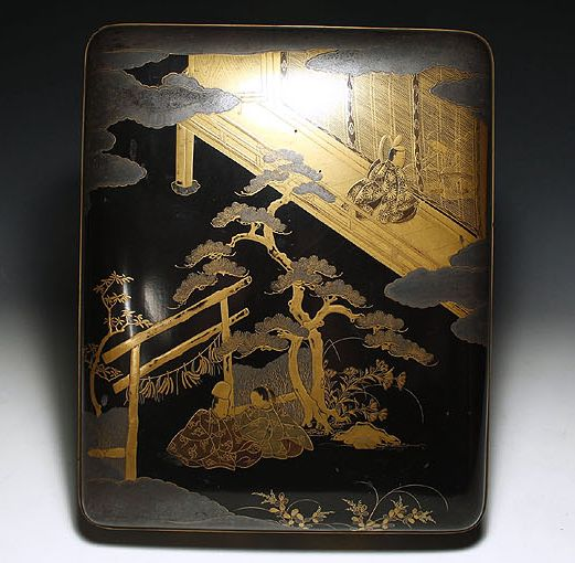2-285japanese gold lacquer,makie