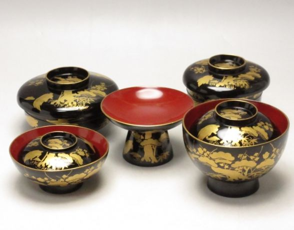 2-268japanese gold lacquer,makie
