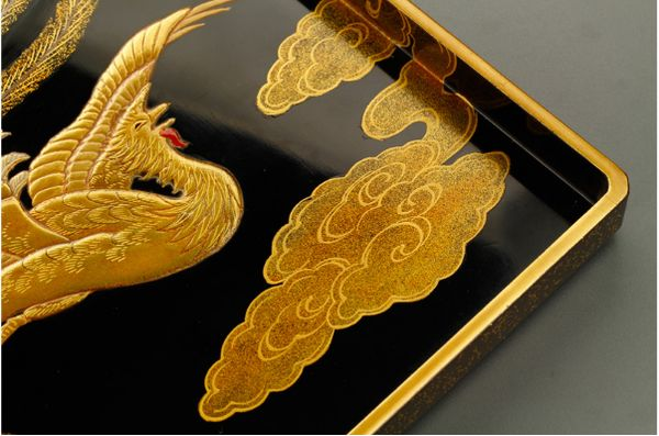 17japanese gold lacquer,makie Writing box09252219