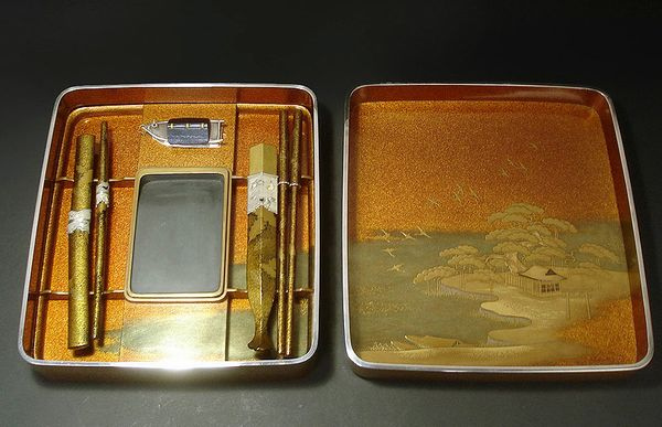 japanese gold lacquer,makie4-283