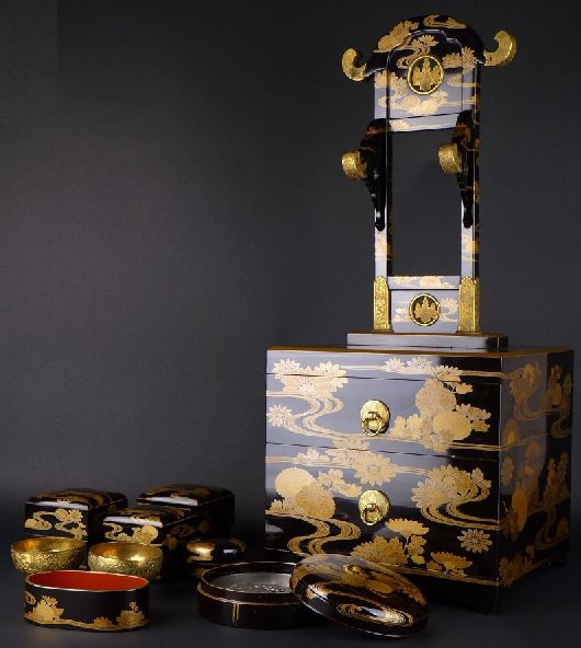 2-253japanese gold lacquer,makie