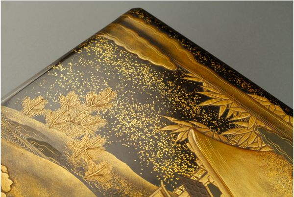 2japanese gold lacquer,makie Writing box09252219