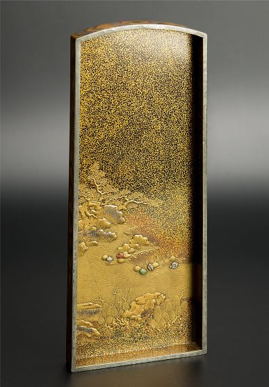 japanese gold lacquer Tray091222382