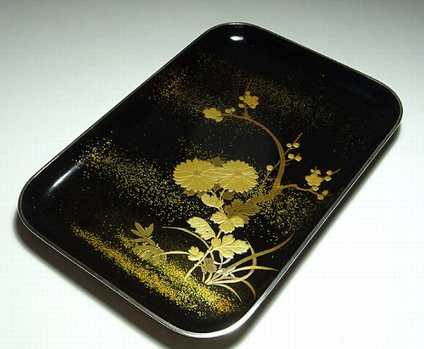 2-113japanese gold lacquer,makie