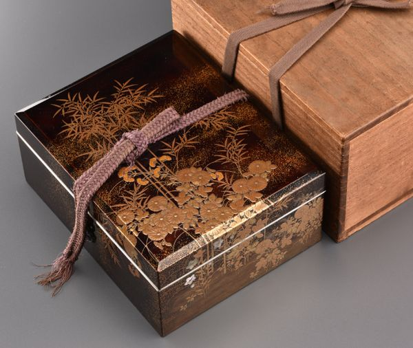 21japanese gold lacquer Writing box 09252252