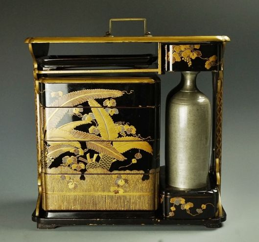 2-195japanese gold lacquer,makie