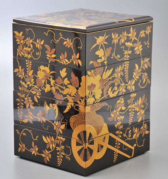 2-197japanese gold lacquer,makie
