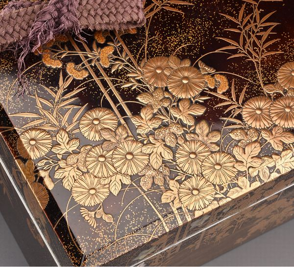3japanese gold lacquer Writing box 09252252