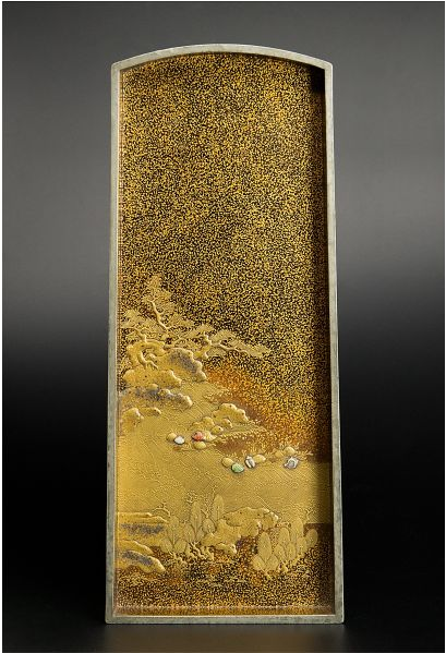 japanese gold lacquer Tray091222383