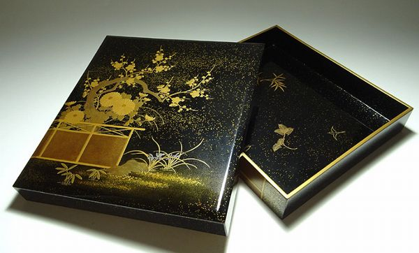 2-129japanese gold lacquer,makie