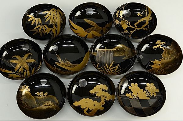 2-34japanese gold lacquer,makie