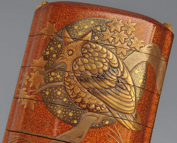 2-134japanese gold lacquer,makie