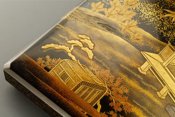 4japanese gold lacquer,makie Writing box09252219