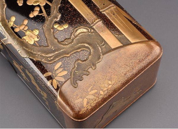 4japanese gold lacquer,makie Letter box 09252221