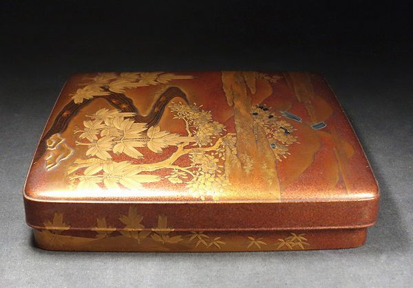 japanese gold lacquer,makie Box Writingbox09122207