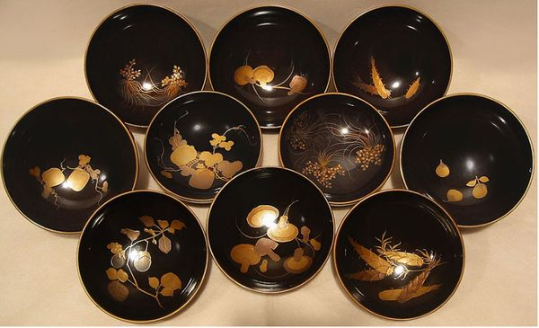 2-52japanese gold lacquer,makie