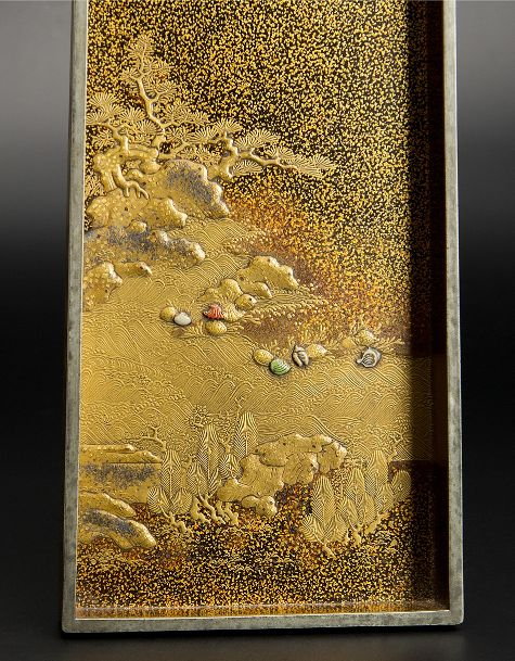 japanese gold lacquer Tray091222385