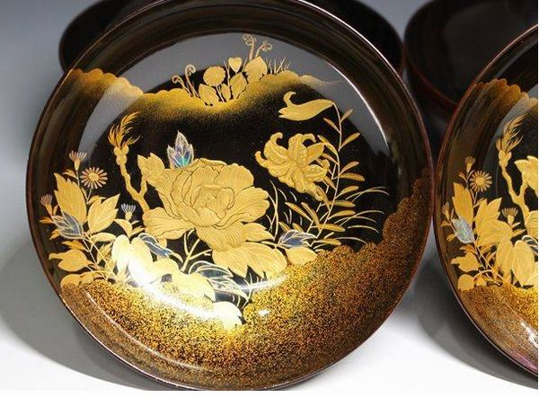 2-225japanese gold lacquer,makie