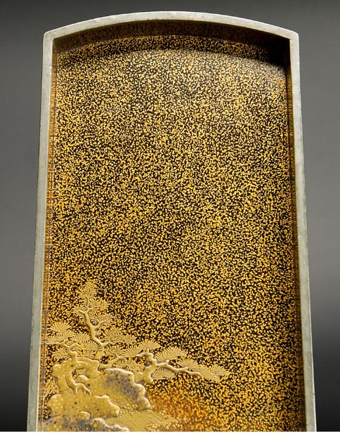 japanese gold lacquer Tray091222386