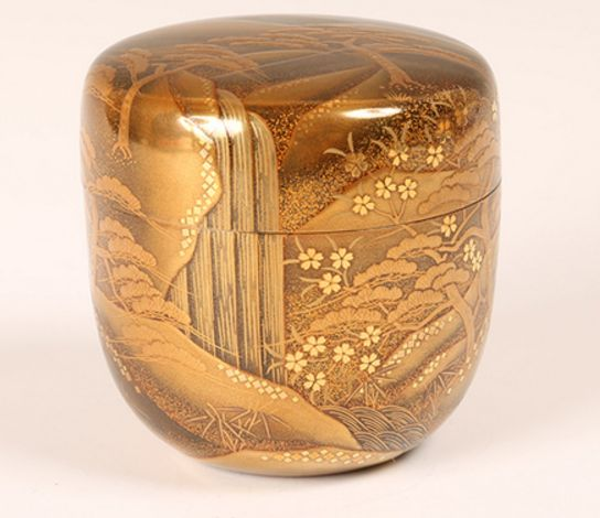 13japanese gold lacquer makie