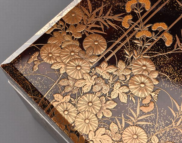 7japanese gold lacquer Writing box 09252252