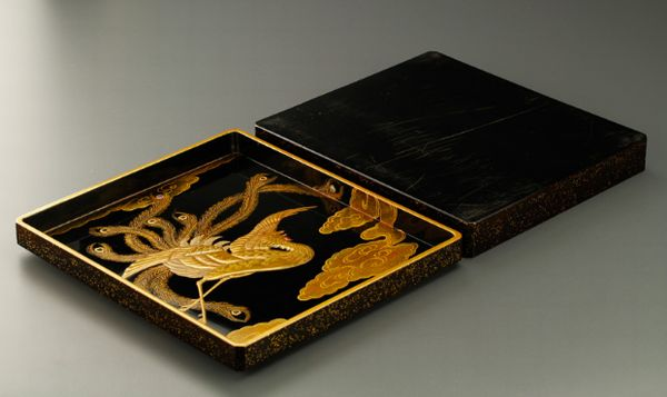 8japanese gold lacquer,makie Writing box09252219