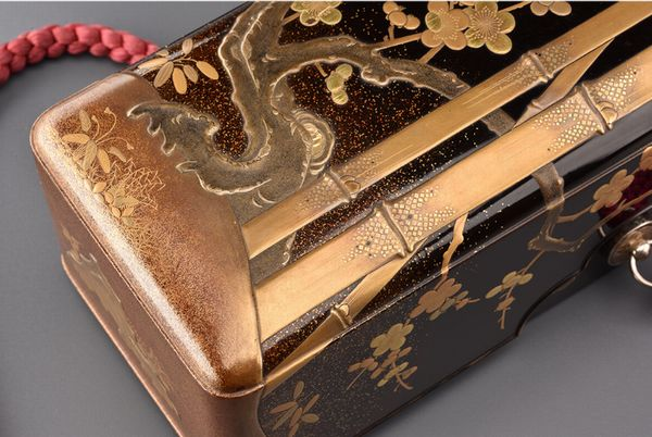8japanese gold lacquer,makie Letter box 09252221