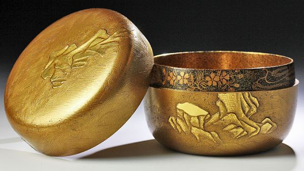 134japanese gold lacquer makie