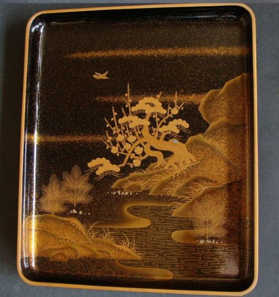 japanese gold lacquer,makie4-265