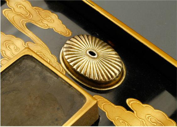 9japanese gold lacquer,makie Writing box09252219