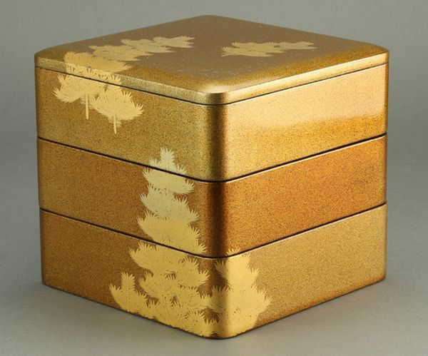 149japanese gold lacquer makie